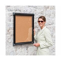 Metroplan Shield Exterior Showcase Cork Display Board Fits 8 x A4 Landscape