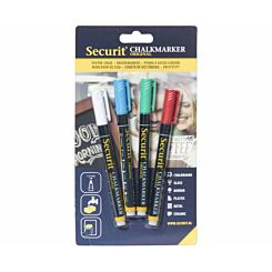 Securit Small Chalk Markers Pack of 4 Classic