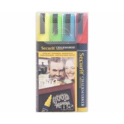 Securit Medium Chalk Markers Pack of 4 Classic