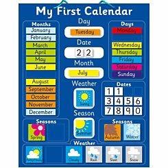 Magnetic My First Calendar Blue