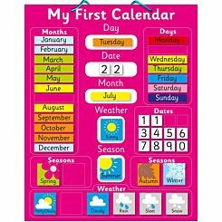 Magnetic My First Calendar Pink
