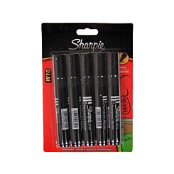 Sharpie W10 Marker Pens Permanent Chisel Tip Pack of 5