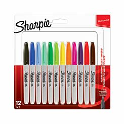 Sharpie Marker Pens Permanent Fine Point Pack of 12