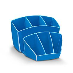 CEP Gloss Desktop Organizer with 8 Compartments Blue