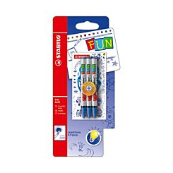 STABILO Fun Refill 3 Pack Plus 2 Concept Stickers