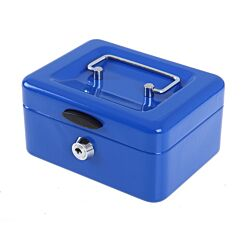 Ryman Button Release Cash Box H75xW150x110 Blue