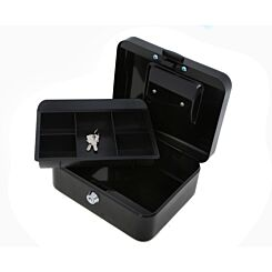 Ryman Button Release Cash Box H90xW200xD170mm Black