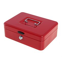 Ryman Button Release Cash Box H80xW240xD170mm Red