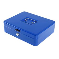 Ryman Button Release Cash Box H85xW295xD230mm Blue
