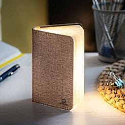 Gingko Mini Linen Smart Book Light Coffee