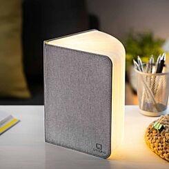 Gingko Large Linen Smart Book Light Grey