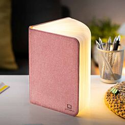 Gingko Large Linen Smart Book Light Blush