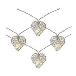 The Outdoor Living Company 10 LED Heart String Lights