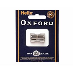 Helix Oxford Metal Pencil Sharpener Single Hole