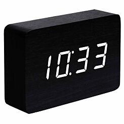 Gingko Brick Click Clock Black