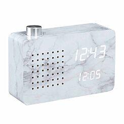 Gingko Radio Click Clock Alarm Marble