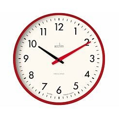 Acctim Riley Retro Wall Clock Red