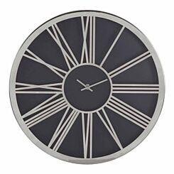 Premier Housewares Baillie Wall Clock 40cm Black/Chrome