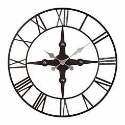 Premier Housewares Vitus Metal Wall Clock 59cm