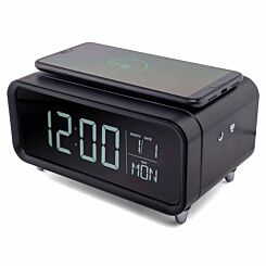 Groov-e Athena Alarm Clock with Wireless Charging Pad