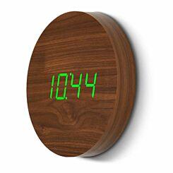 Gingko Wall Click Clock Walnut
