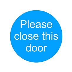 PVC Sign Please Close This Door 100x100mm