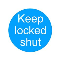 PVC Sign Keep Locked Shut 100x100mm