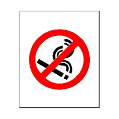 PVC Sign No Smoking Logo 115x140mm