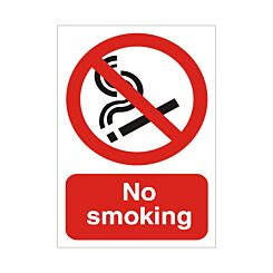 Foam PVC Sign No Smoking 300x400mm