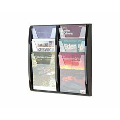 Metroplan Panorama Wall Mounted Leaflet Dispenser 6 x A4
