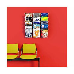 Fast Paper Wall Mounted Leaflet Dispenser 15 Compartments
