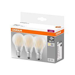 Osram LED Bulb Edison Screw E27 7W Pack of 3