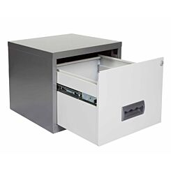 Pierre Henry A4 1 Drawer Stackable Maxi Filing Cabinet Silver/White