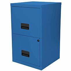 Pierre Henry Metal 2 Drawer Maxi Filing Cabinet A4 Sky Blue