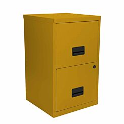 Pierre Henry Metal 2 Drawer Maxi Filing Cabinet A4 Mustard
