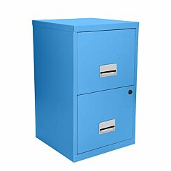 Pierre Henry Metal 2 Drawer Maxi Filing Cabinet A4 Maya Blue