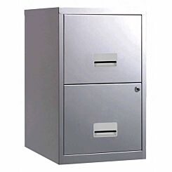 Pierre Henry Metal 2 Drawer Maxi Filing Cabinet A4 Silver