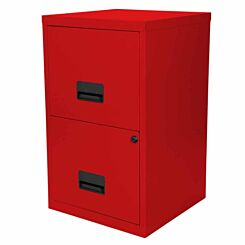 Pierre Henry Metal 2 Drawer Maxi Filing Cabinet A4 Red