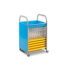 Callero Art Trolley 5 Trays and 10 Wire Racks