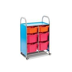 Callero Double Column Unit With 2 Deep and 4 Extra Deep Trays
