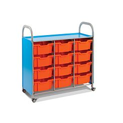 Callero Tilted Shelf Unit With 12 Deep Trays