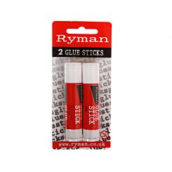 Ryman Coloured Glue Stick 10g Pack of 2