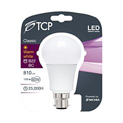 TCP LED Opal A Lamp 60w 810lm Warm White