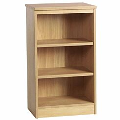 R White Mid Height Bookcase 600mm Wide Classic Oak