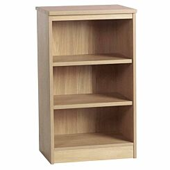 R White Mid Height Bookcase 600mm Wide Sandstone
