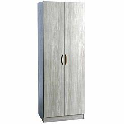R White Tall Cupboard 600mm Wide Grey Nebraska