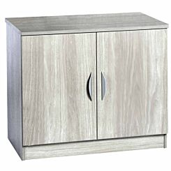R White Double Cupboard B-C85 H728xW850xD540mm Grey Nebraska
