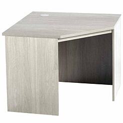 R White Corner Desk B-CDK H728xW940xD540mm Grey Nebraska