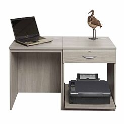 R White Home Office Desk Set with Drawer Grey Nebraska