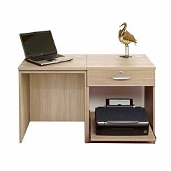 R White Home Office Desk Set with Drawer Sandstone
